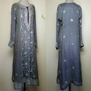 Vintage Indian Formal Salwar Kameez Dress Pant Set